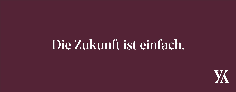 """""""Die Zukunft ist einfach"""" slogan banner"""