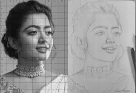 Drawing Portraits Using the Grid Method