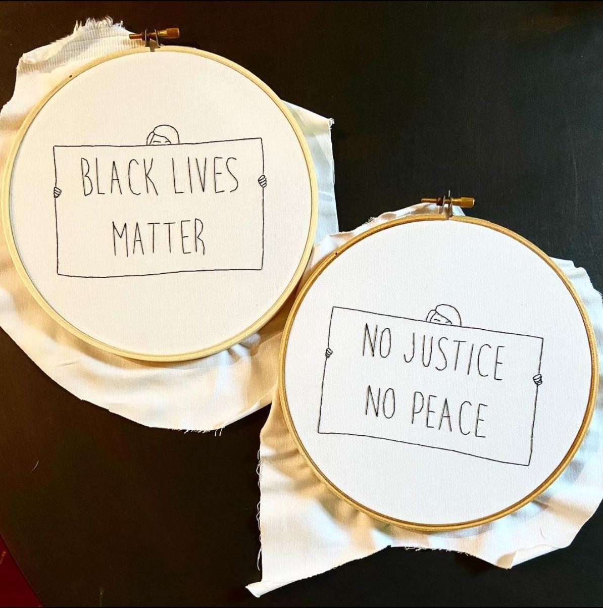 Craftivism 101 with Badass Cross Stitch - Black Lives Matter