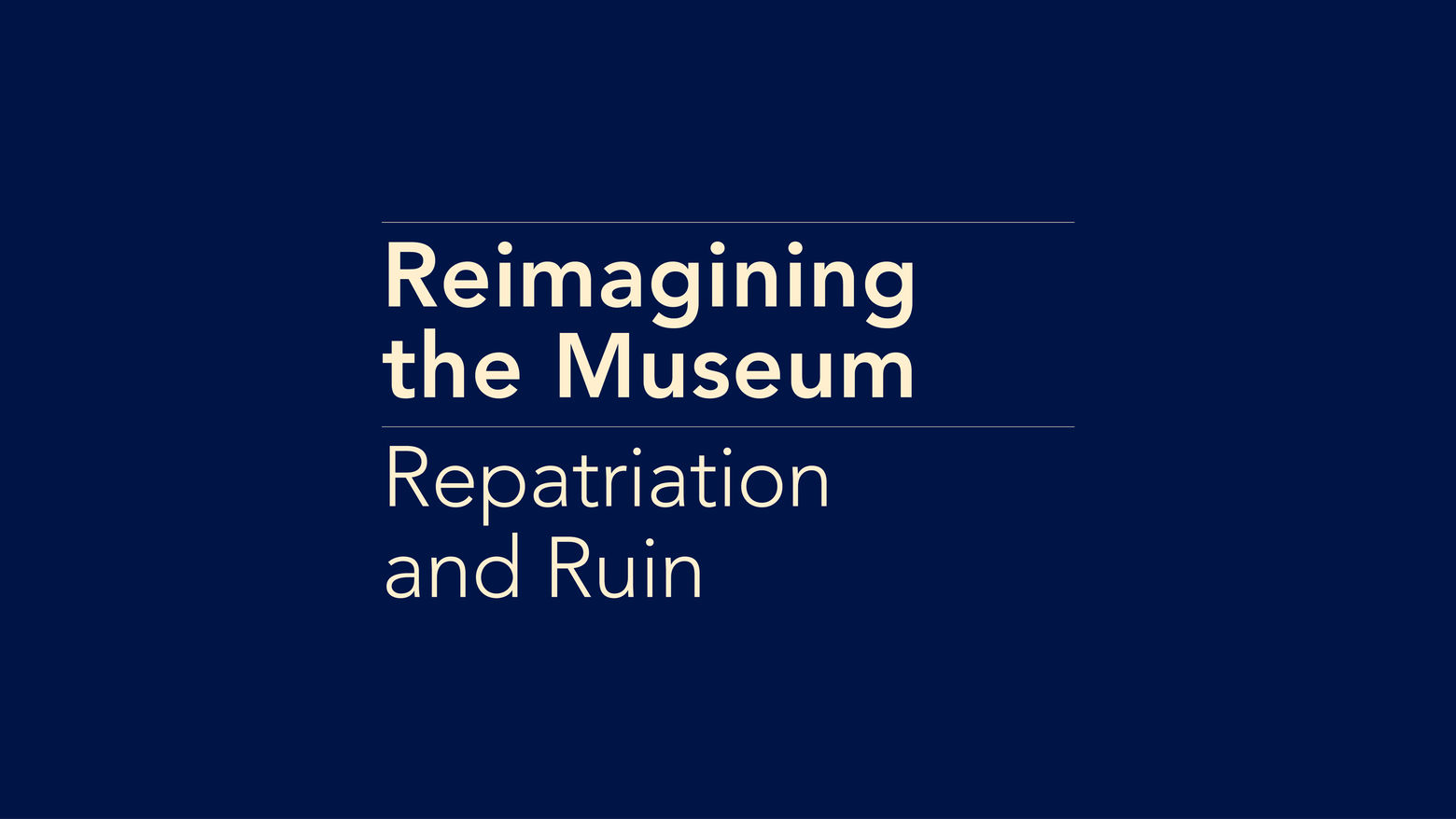 Repatriation and Ruin