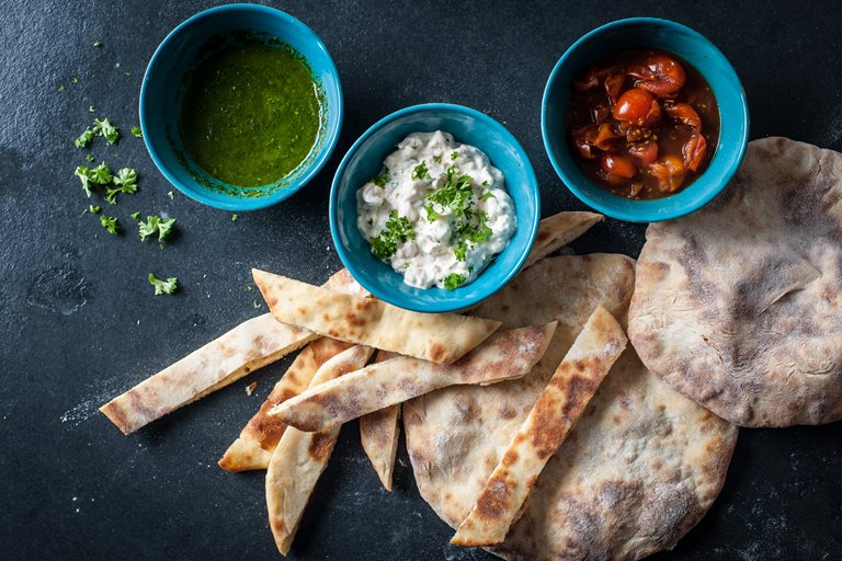 Flatbreads and Dips