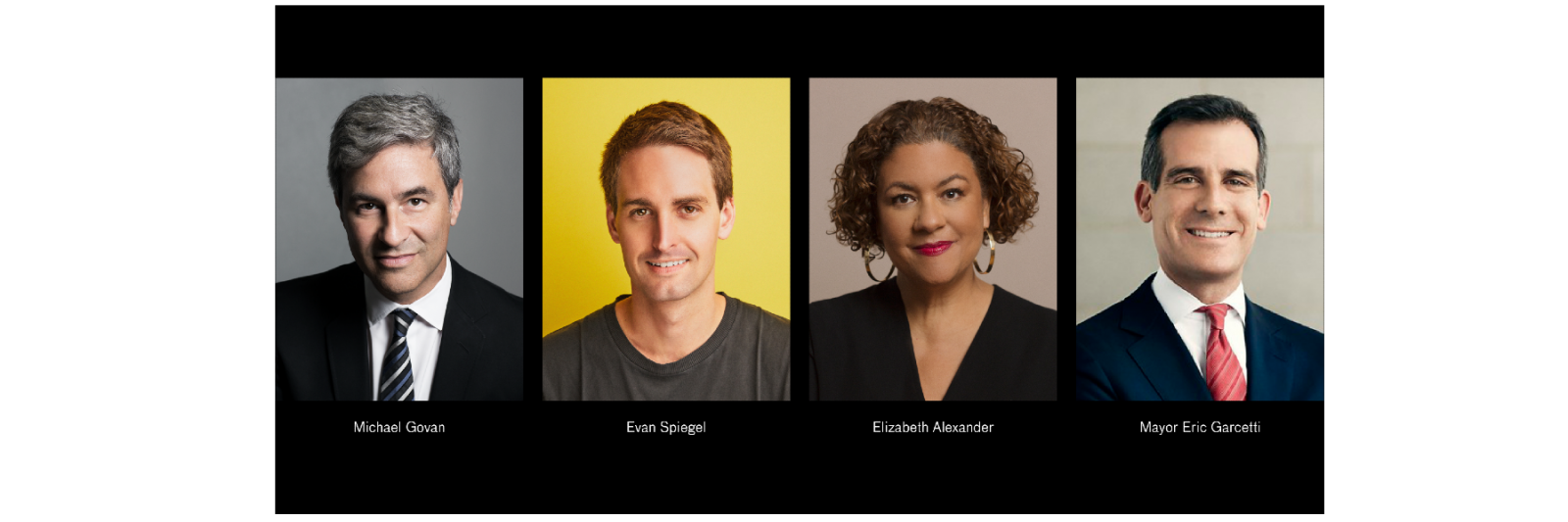 In Conversation: Michael Govan, Evan Spiegel, Elizabeth Alexander, and Mayor Eric Garcetti