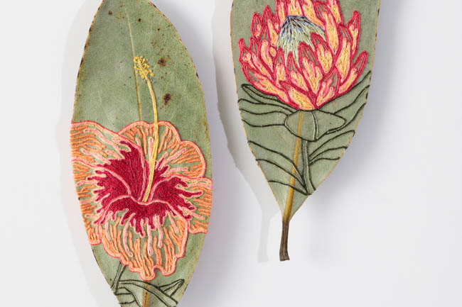 The Art of Leaf Embroidery