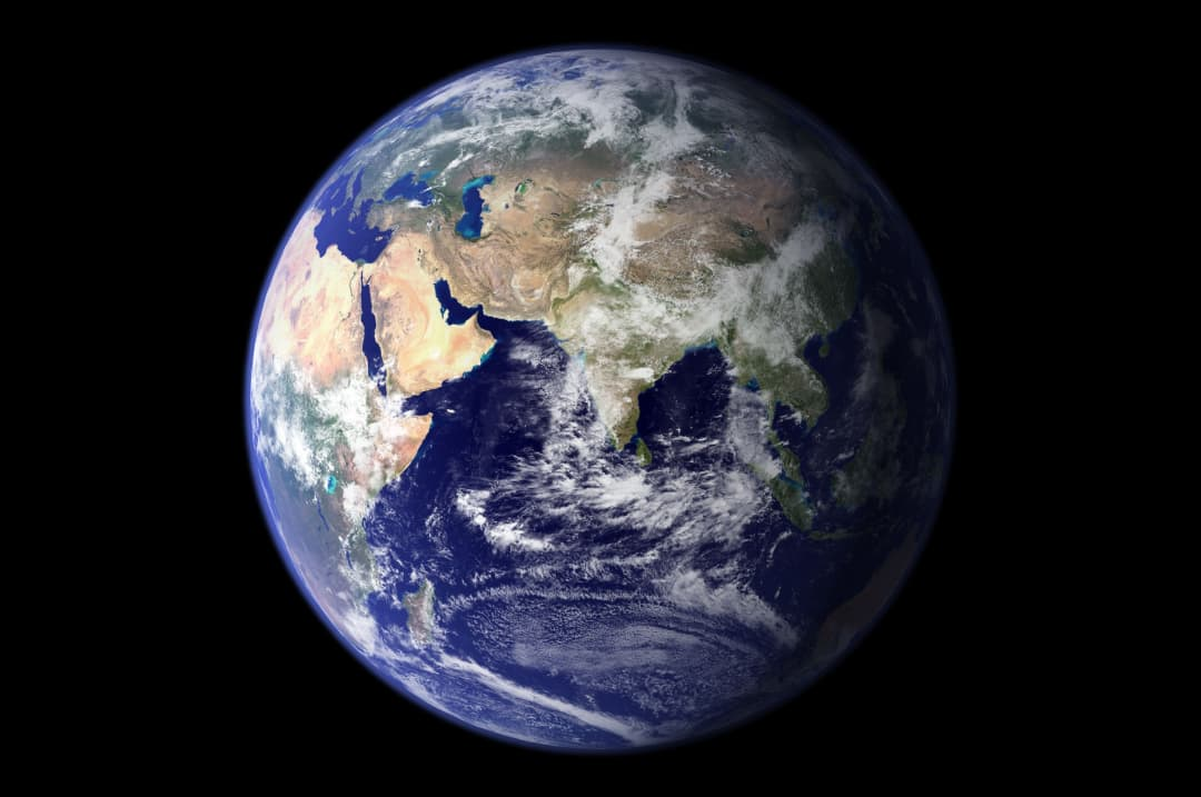 Zoomed out view of Earth