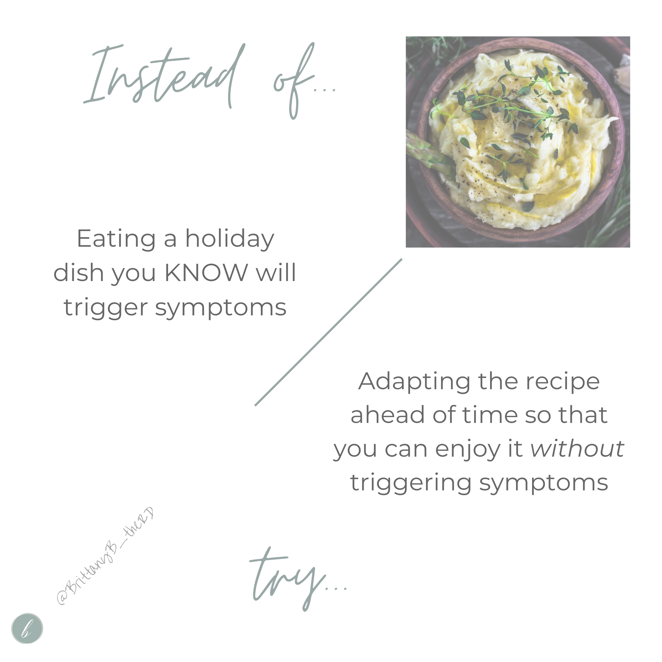 Adapting a holiday recipe for crohn's or colitis
