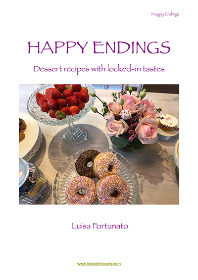 """Cover page cook book """"Happy Endings"""""""