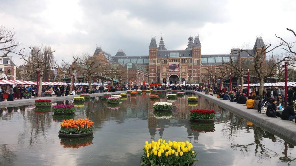 Amsterdam, Amsterdão, Amsterdã, Praça dos Museus Amsterdam, Museumplein, Rijksmuseum