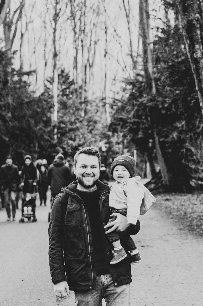 Pai e Filho no bosque