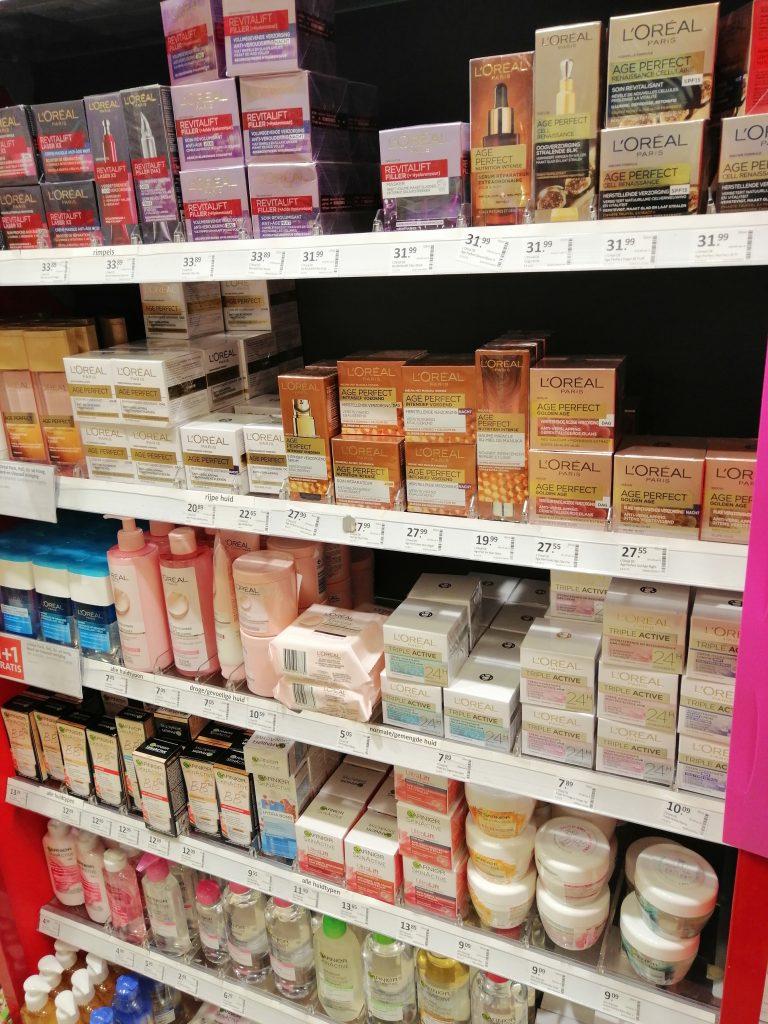 Produtos de beleza em farmacia