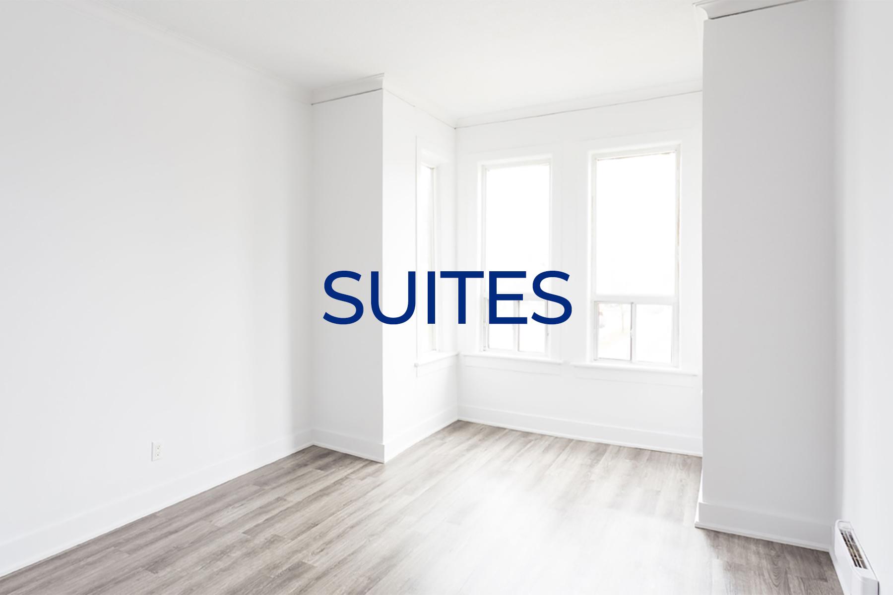 Living room of unit at Royal and Wales apartments