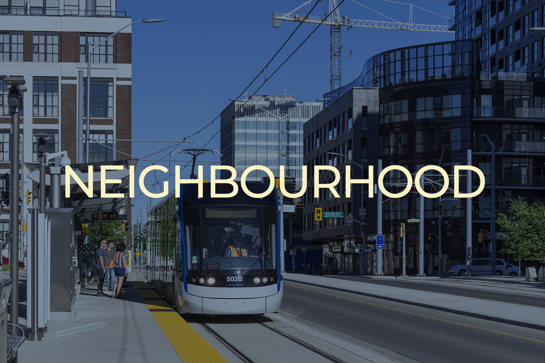 Downtown Kitchener ION light rail stop