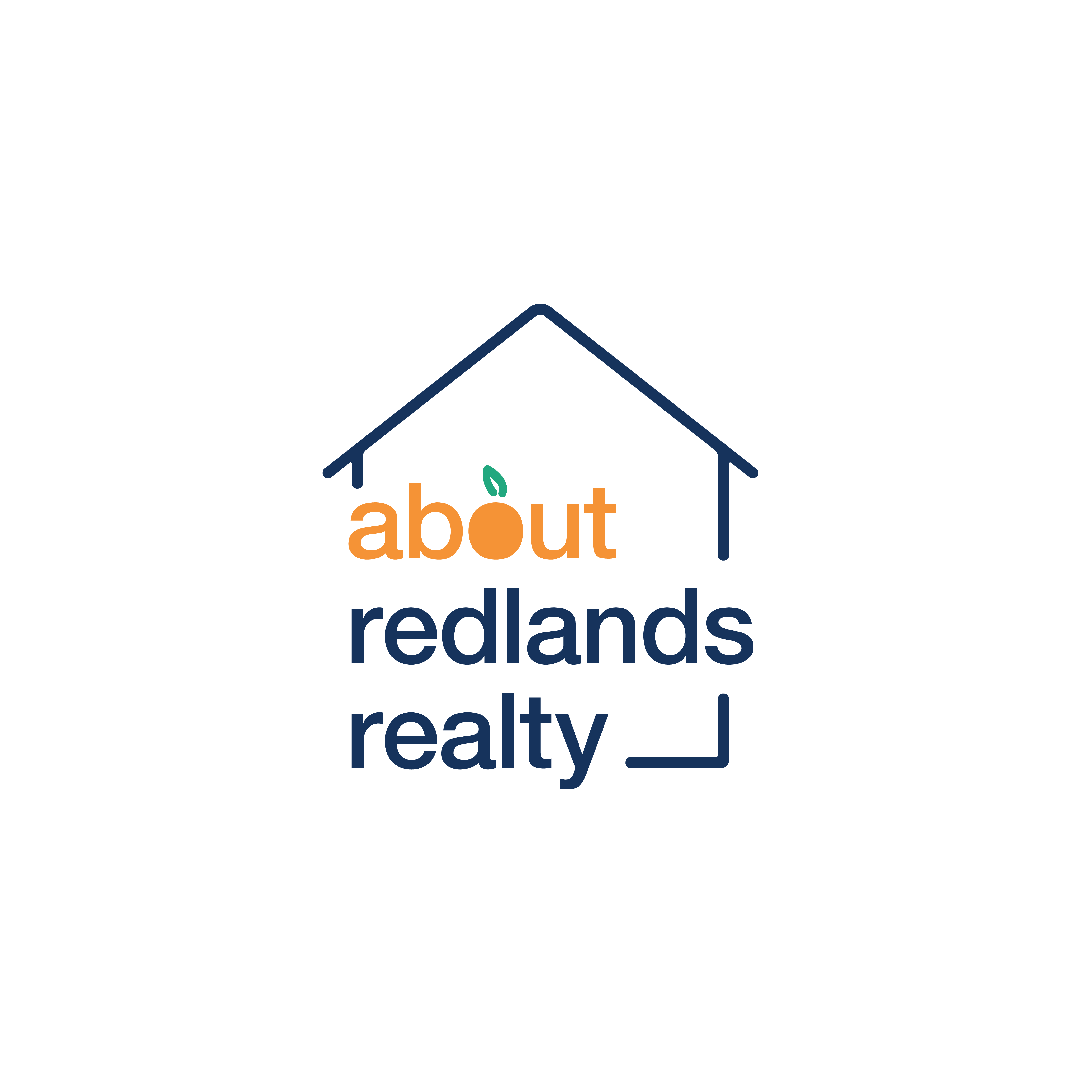 The About Redlands Realty logo, in full color and transparent background.