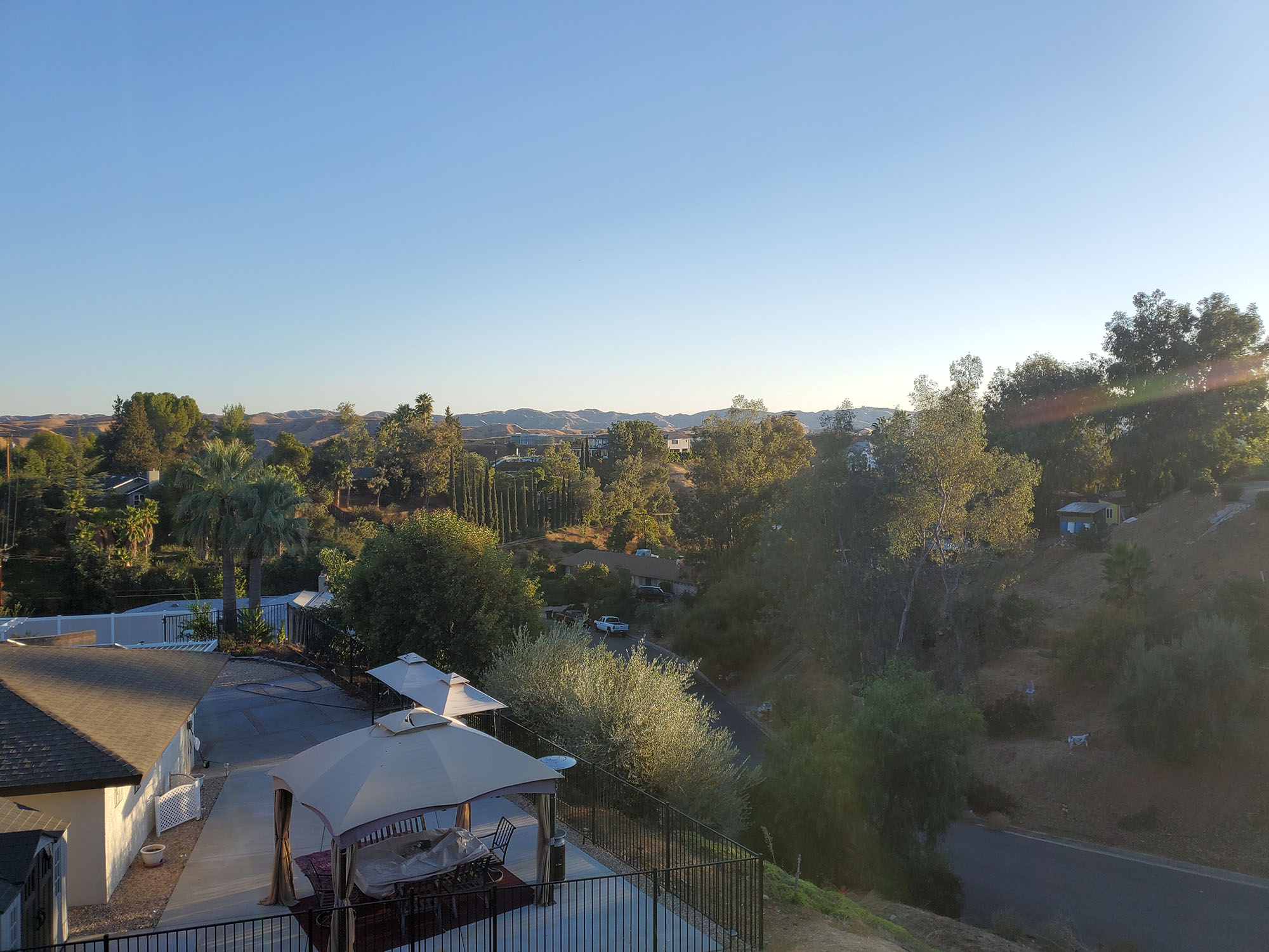 A photo of the view from the land for sale on 0 Bedford Dr., Redlands, CA 92373.