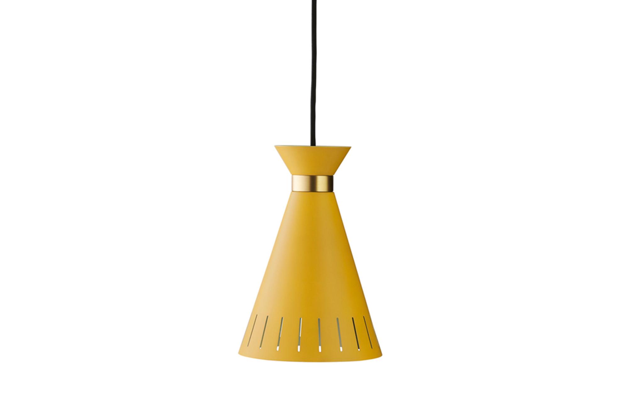 Cone Pendant in Honey Yellow