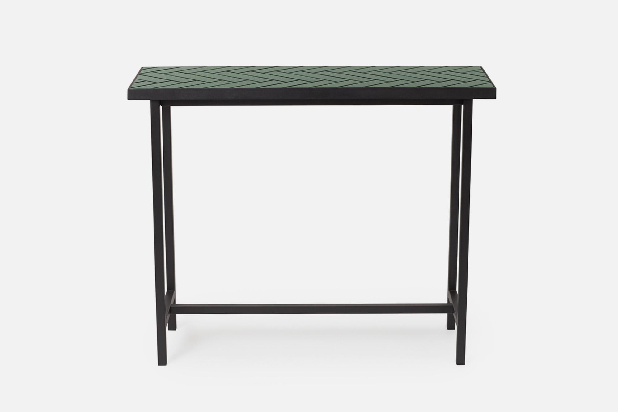 Herringbone Tile Console Table