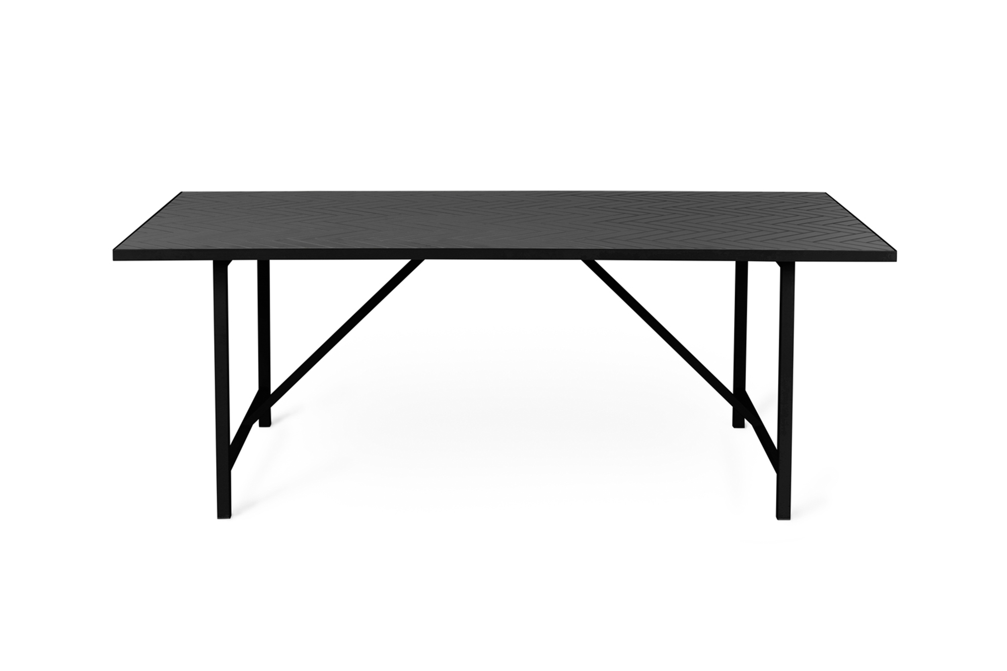 Herringbone Tile Dining Table