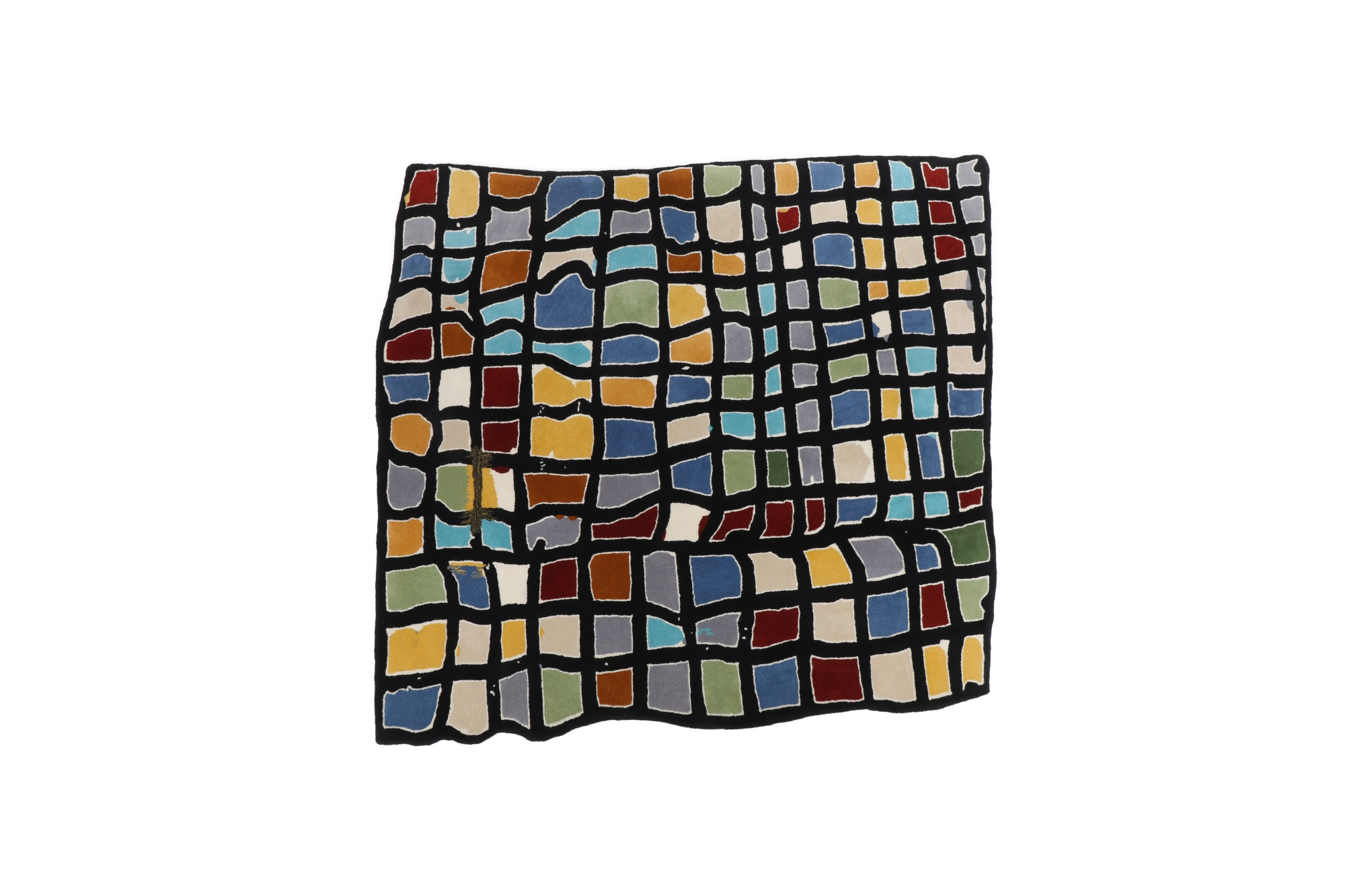 Study for Coloured Grid Rug