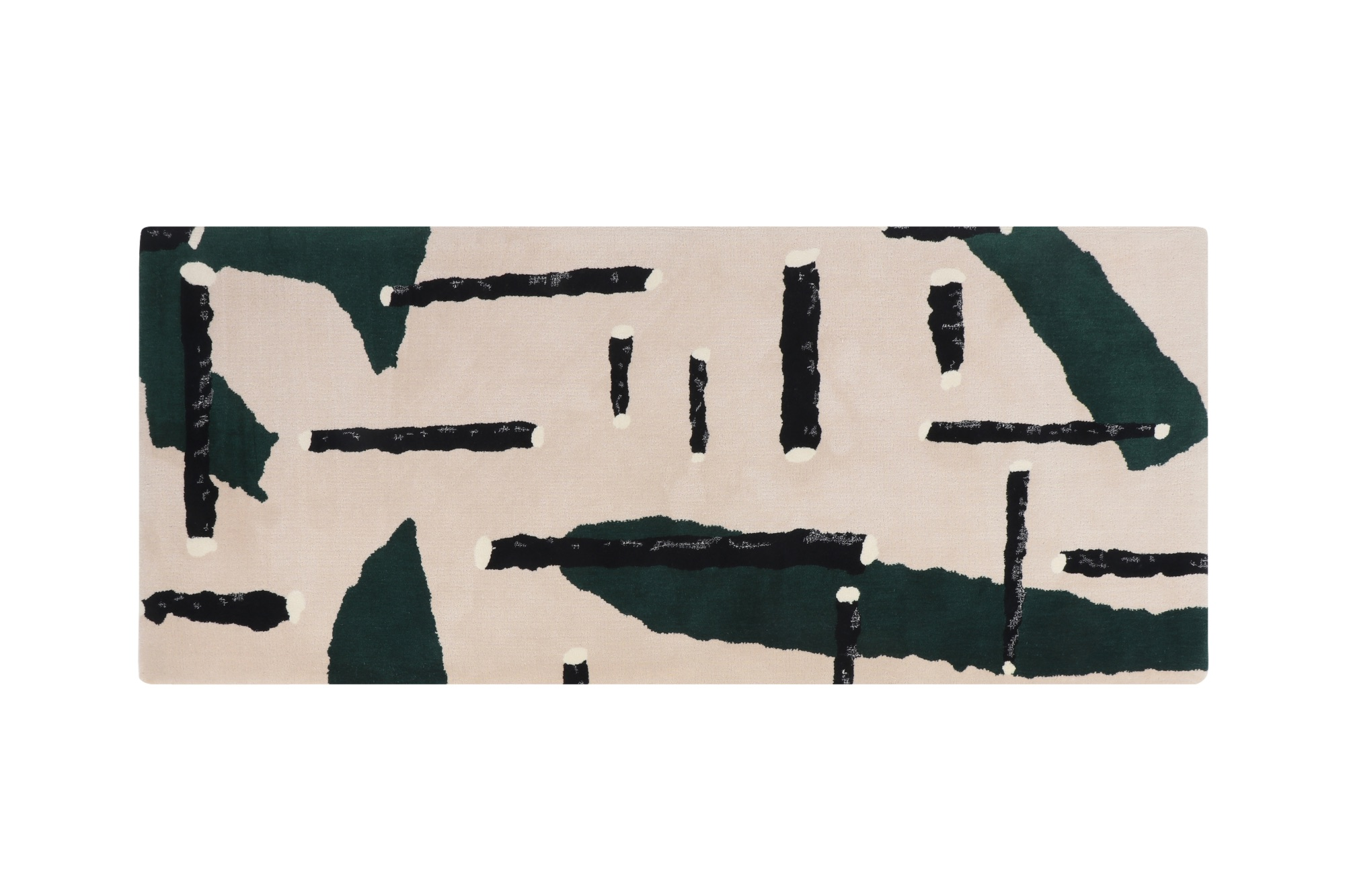Leaf + Stick (Green) Rug