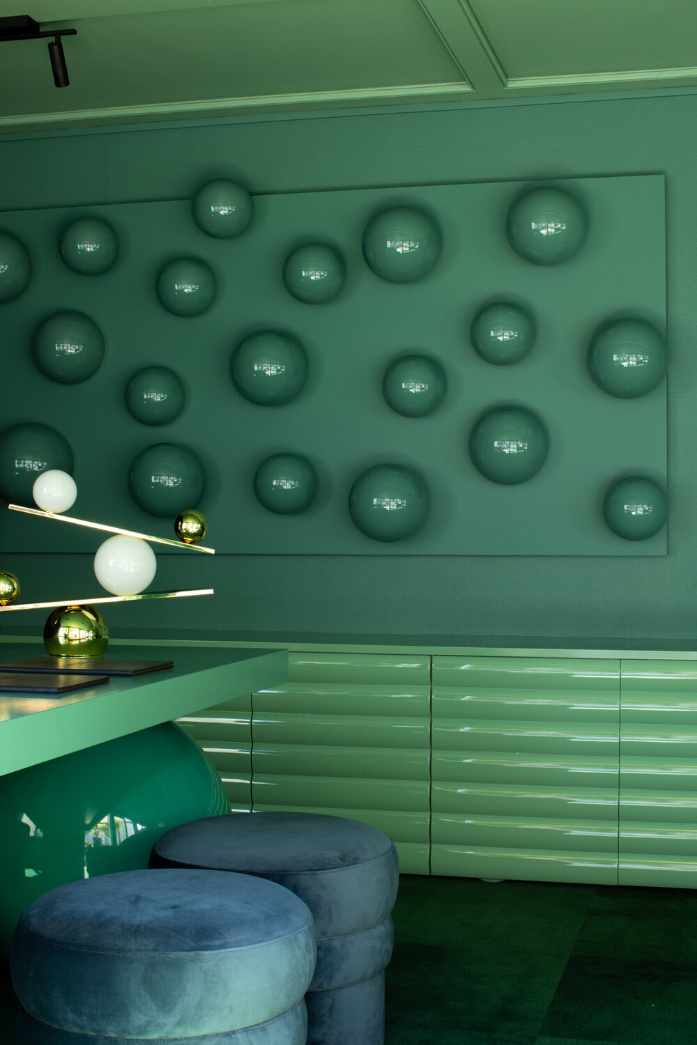 Oblure 'Balance' Lamp at The Central hotel by Undercurrent Studio