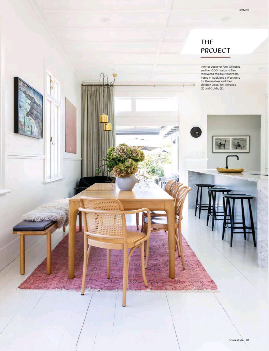 Interior Stylist Amy Gillespie featured in Homestyle Magazine