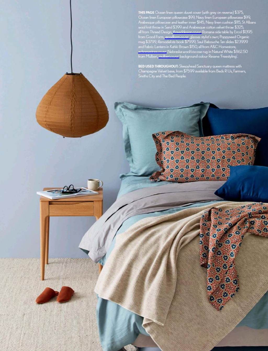 Good Form featured in 'Take to Your Bed' NZ House & Garden Special Feature