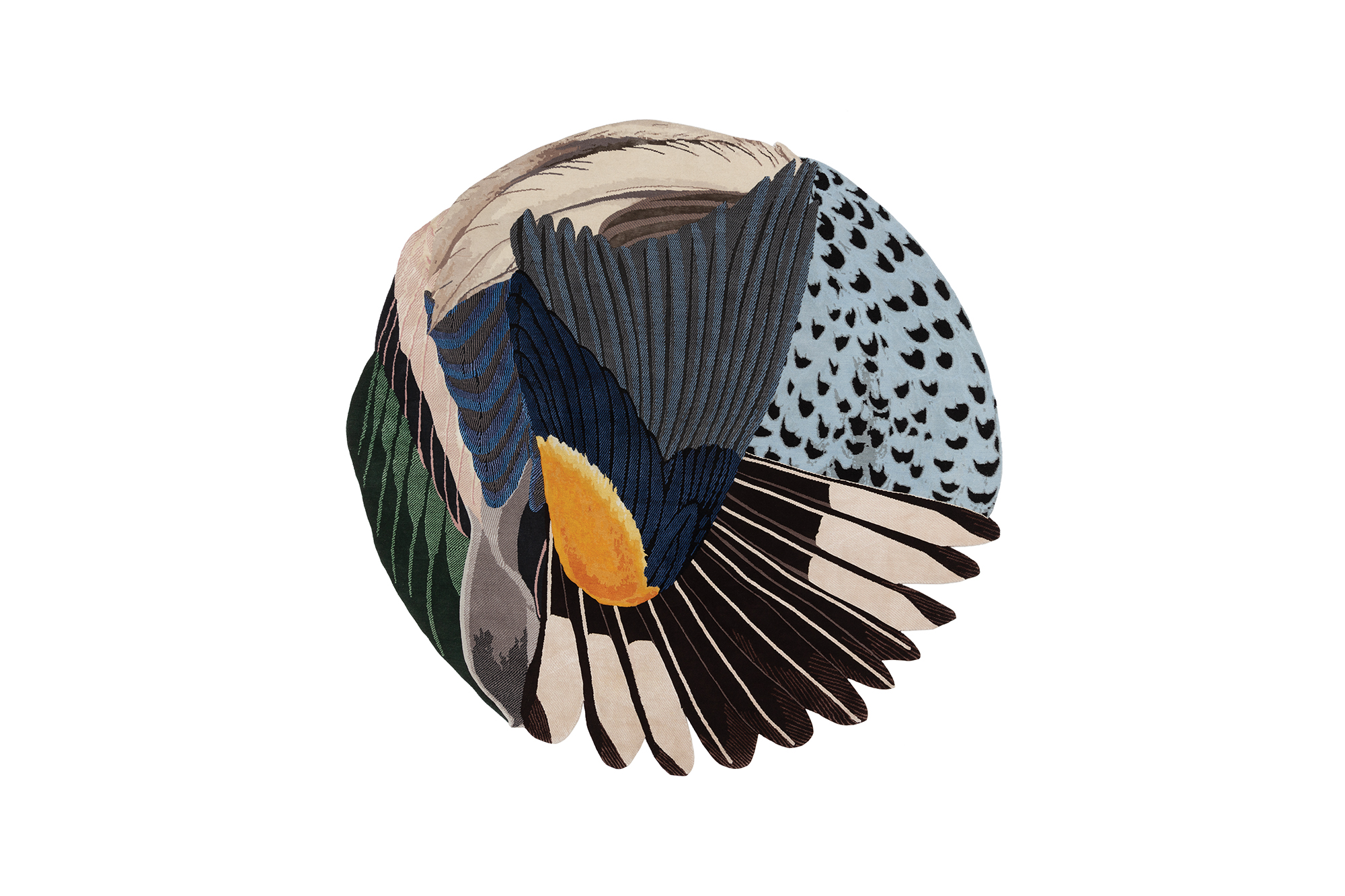 Feathers Round Rug