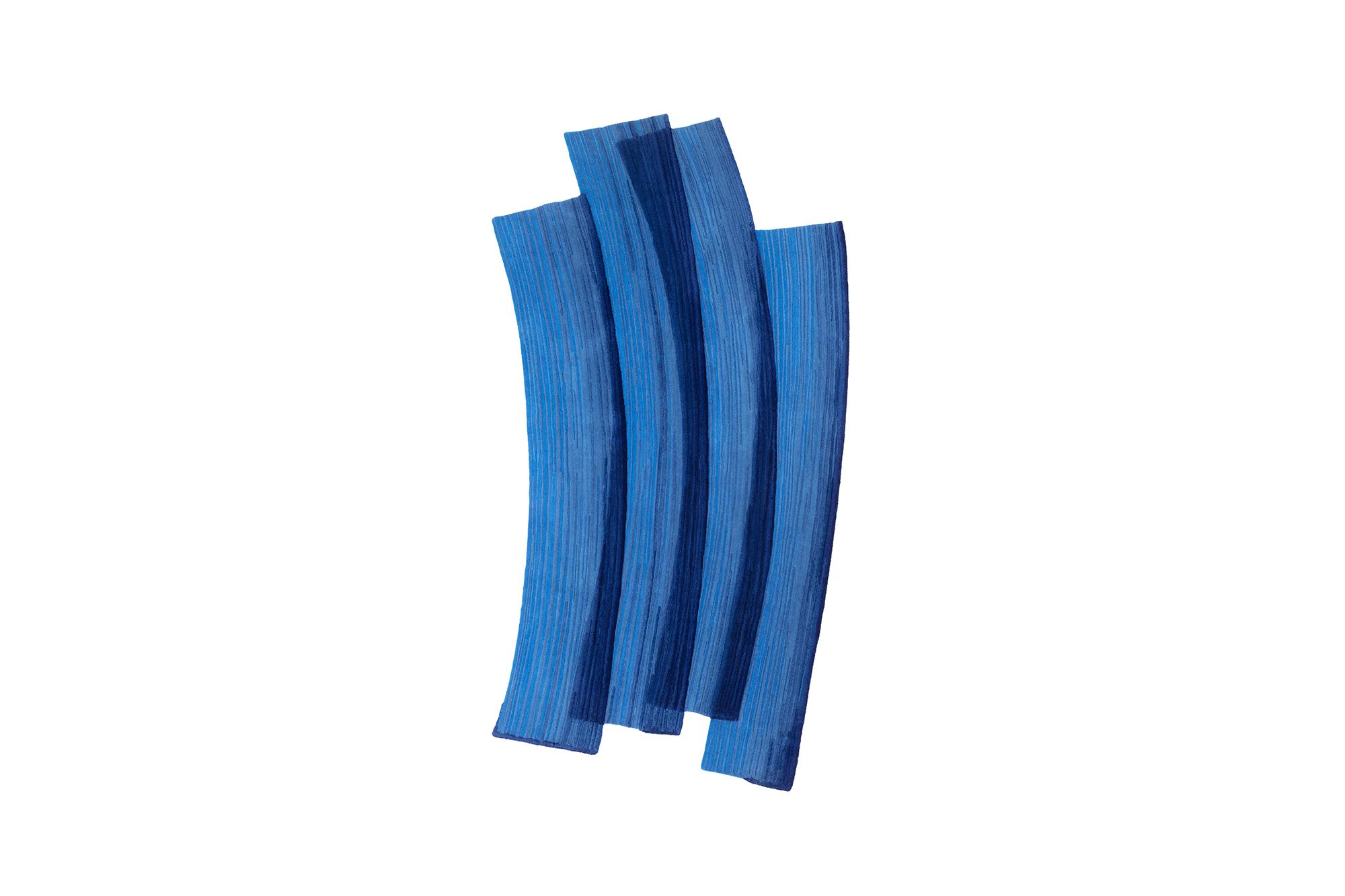 Stroke 1.0 Blue Rug