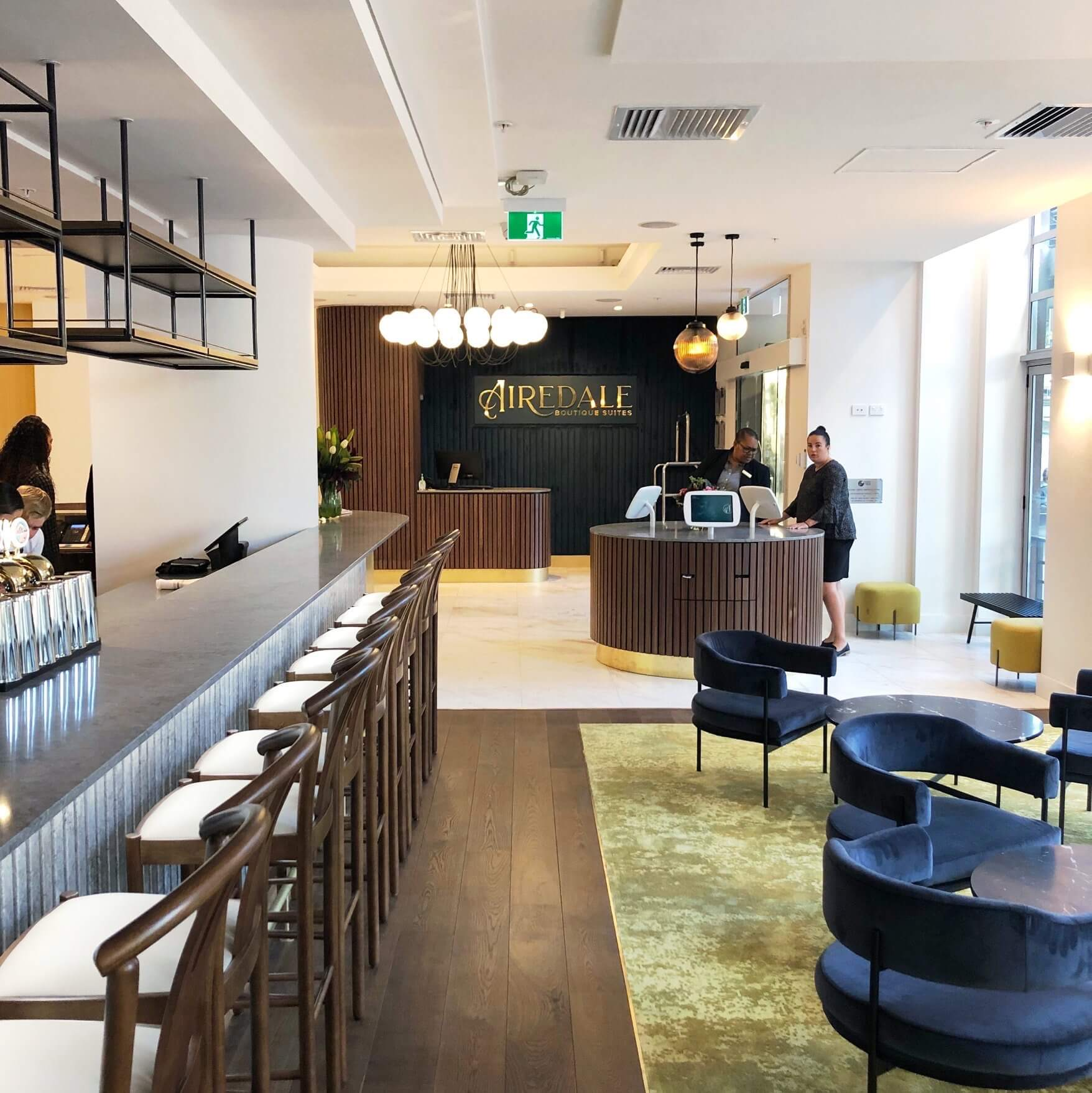 Astep chandelier lights up Airedale Boutique Suites by Context Architects