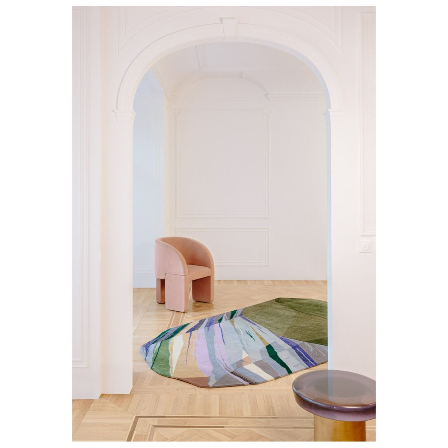 Patricia Urquiola's gem-like Fordite rug for CC Tapis is a s