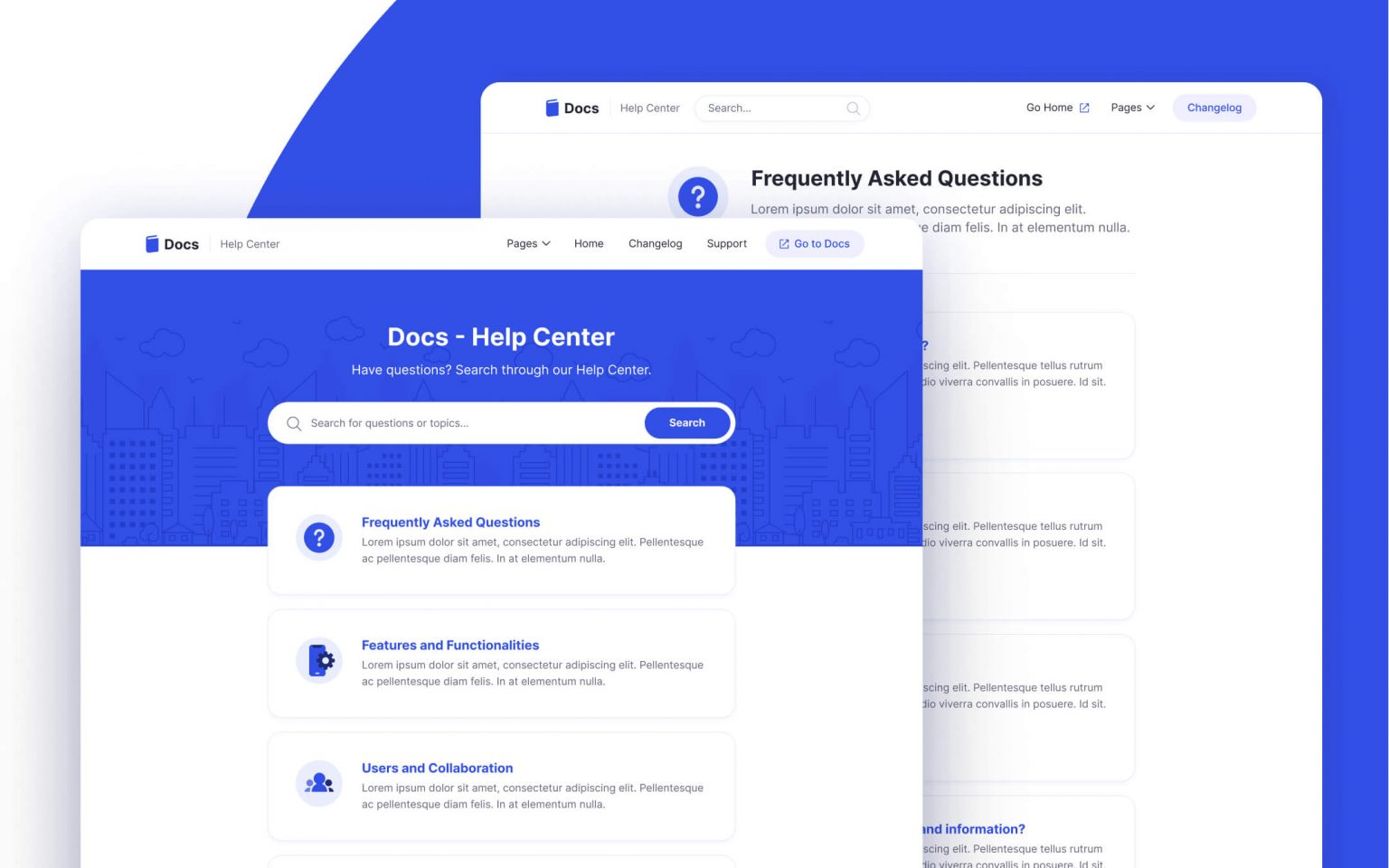 Support & Help Center Webflow Template