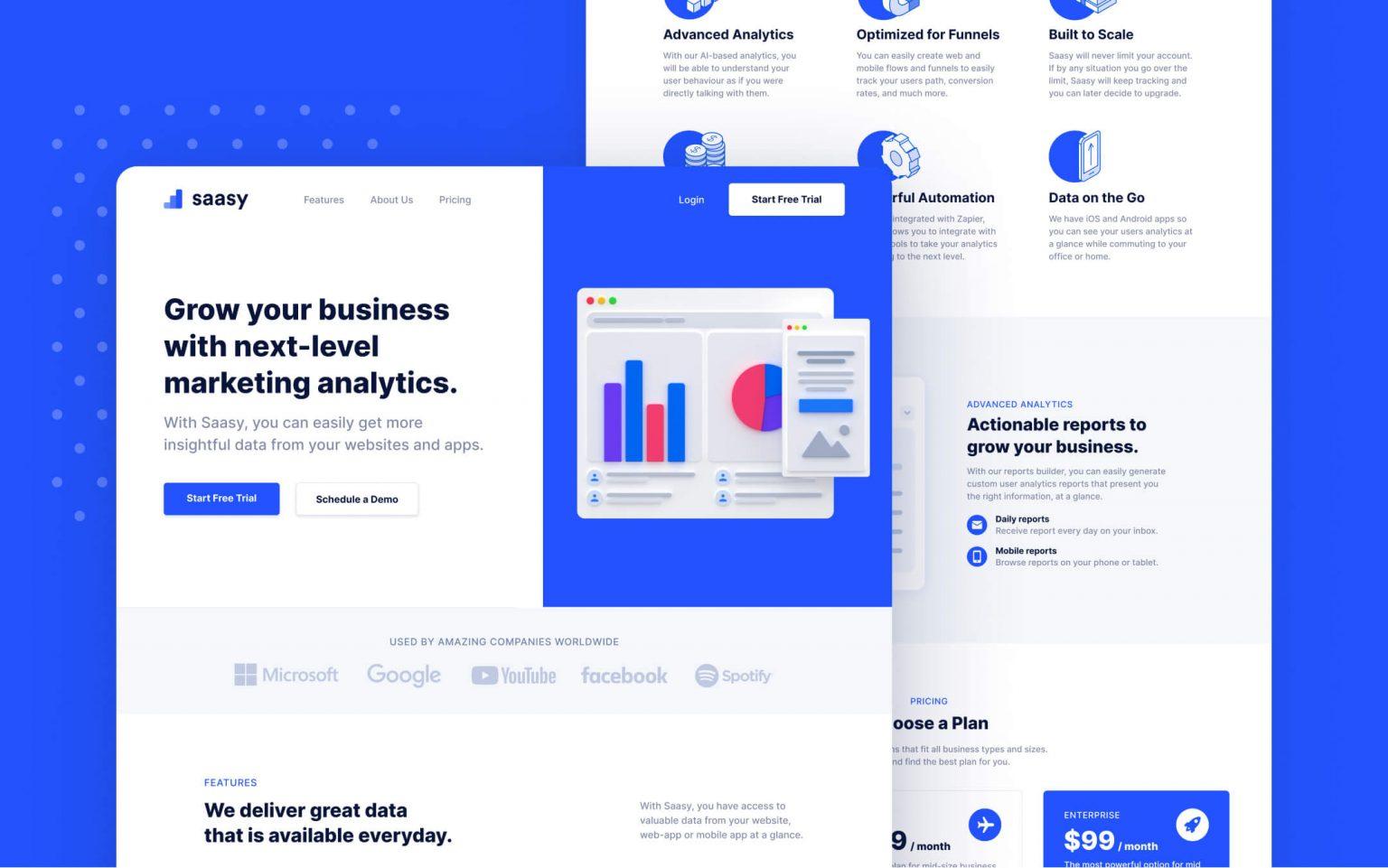 SaaS & Tech Startup Webflow Template