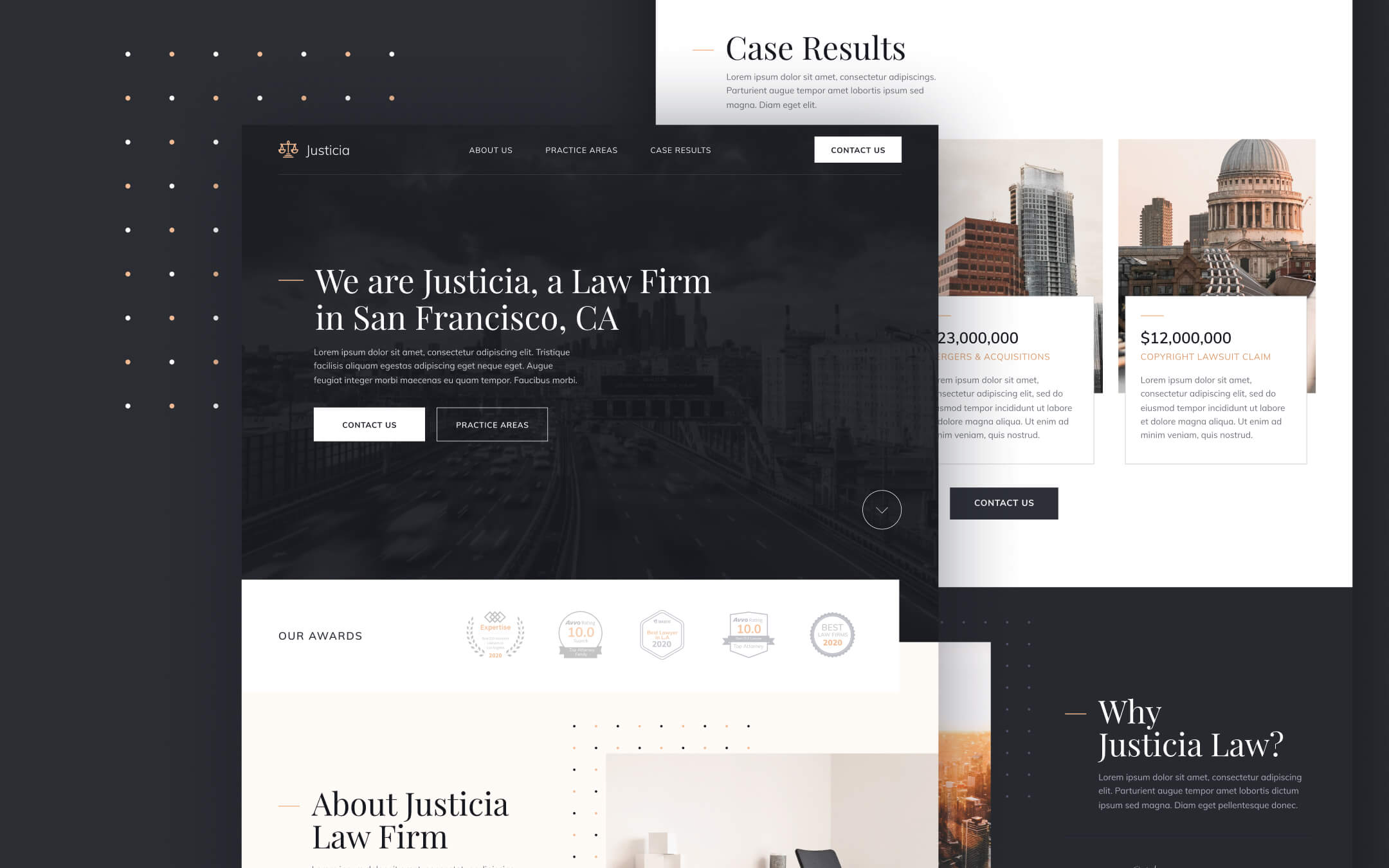 Law Firm, Lawyer and Attorney Webflow Template