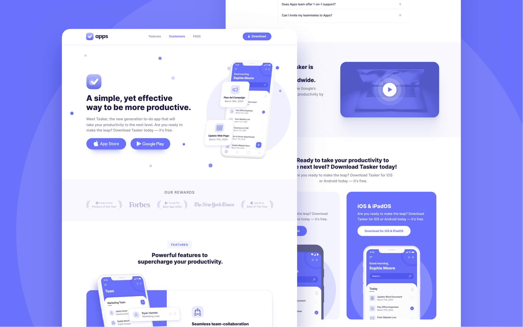 Mobile App Webflow Template