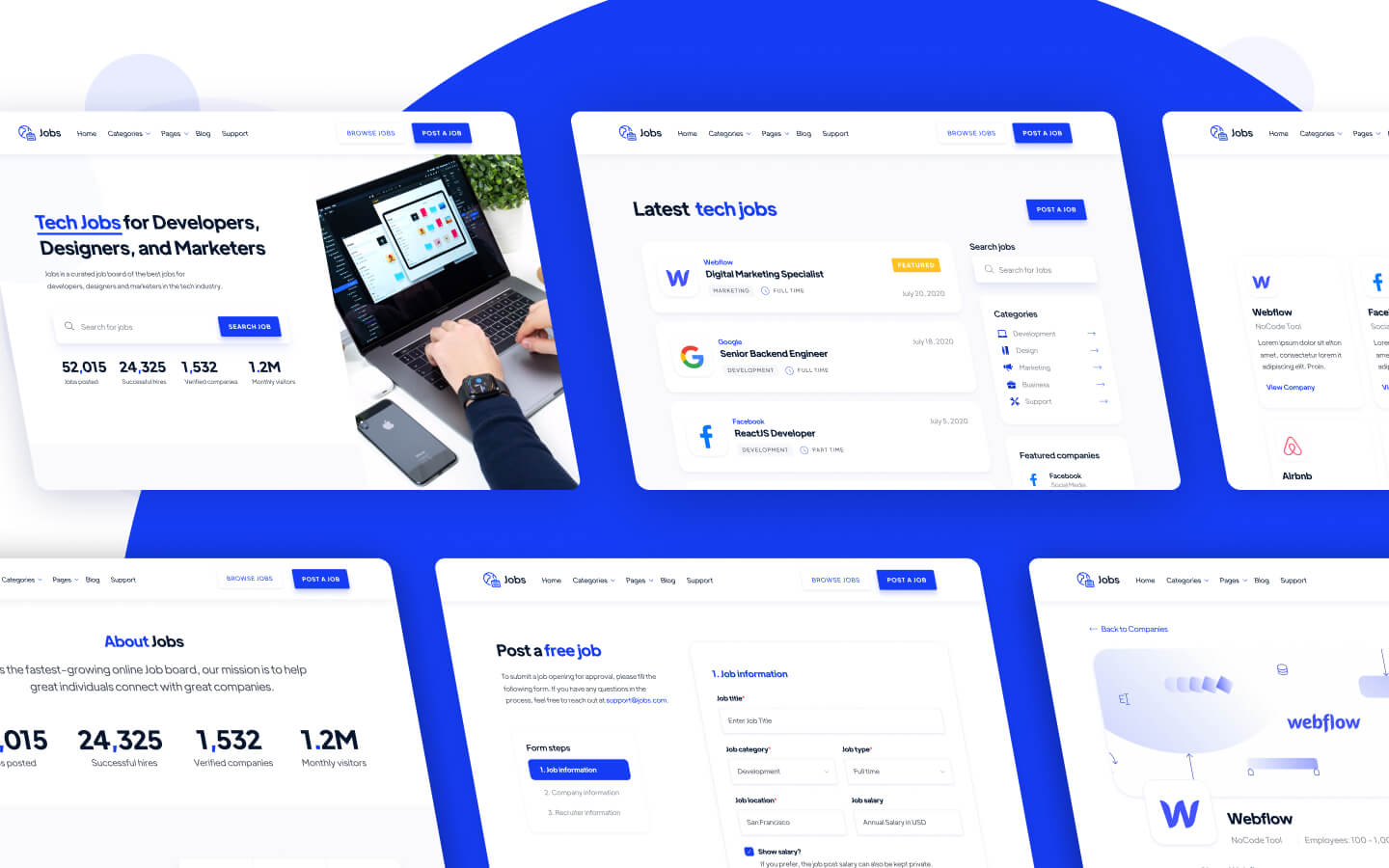 Job Board Webflow Template