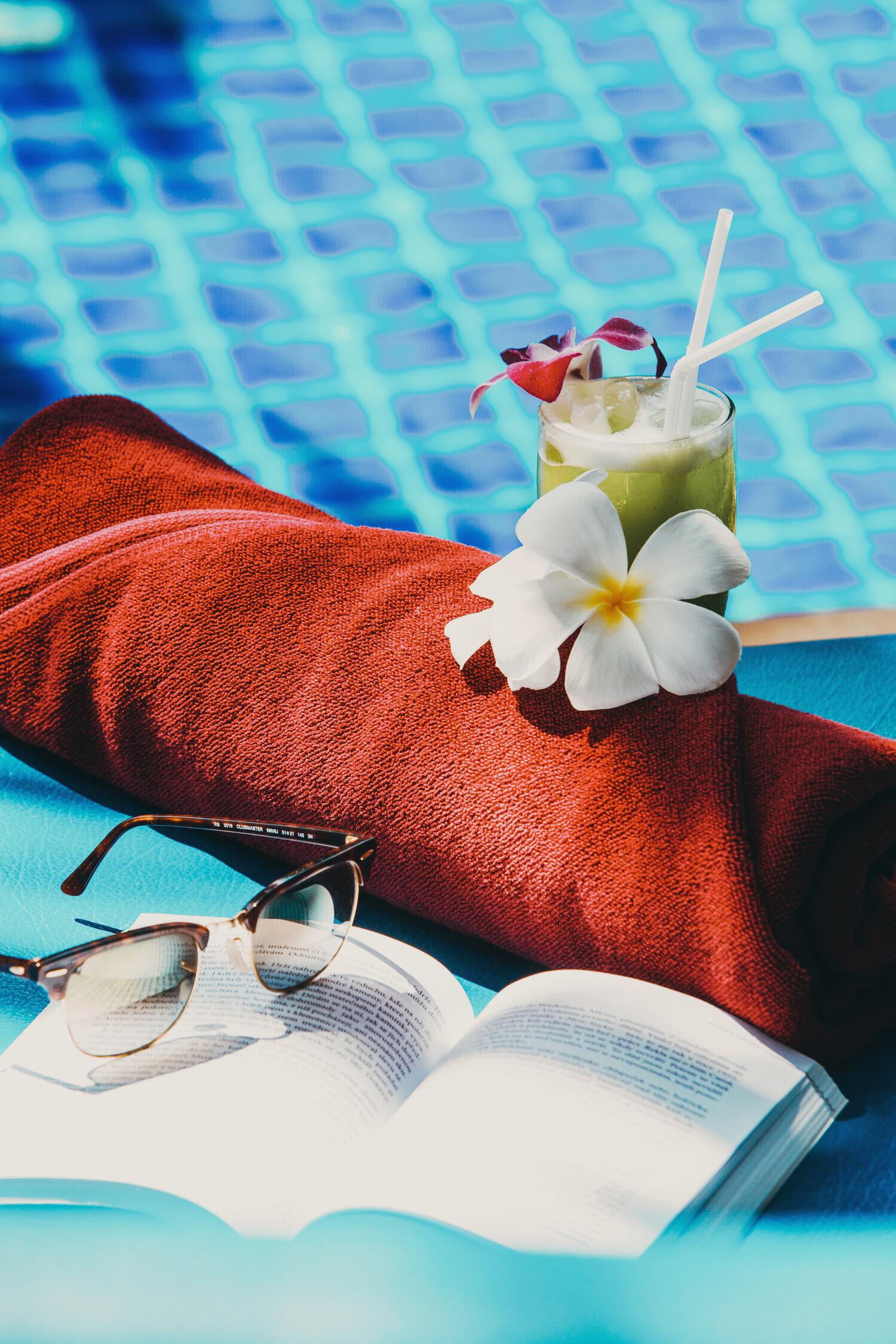 Suntanning Drinks Swimming Pool