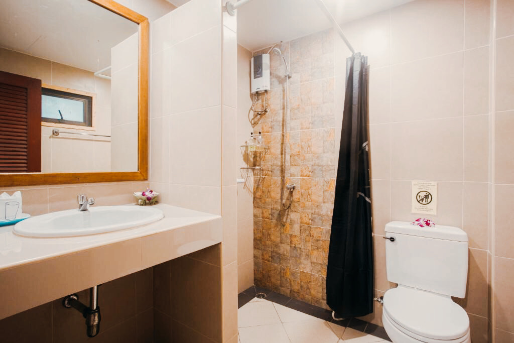 Superior room shower & toilet