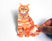 Ginger cat pet sticker