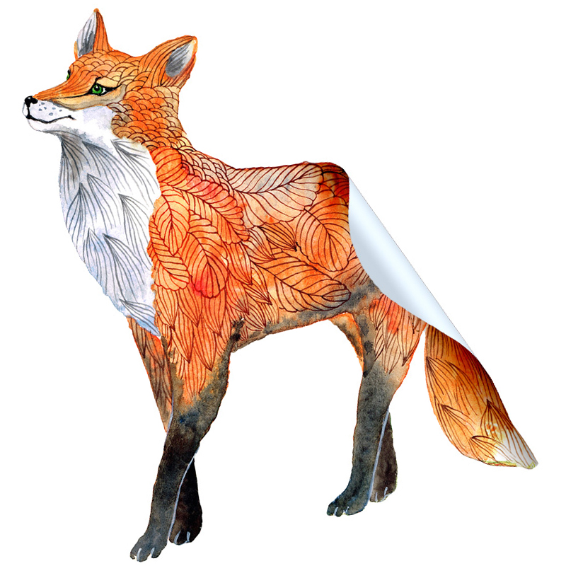 Garden Fox Sticker