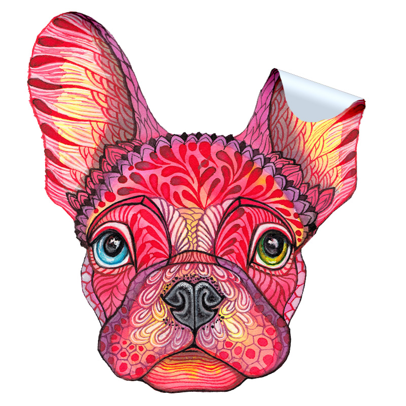 French Bulldog Face Sticker