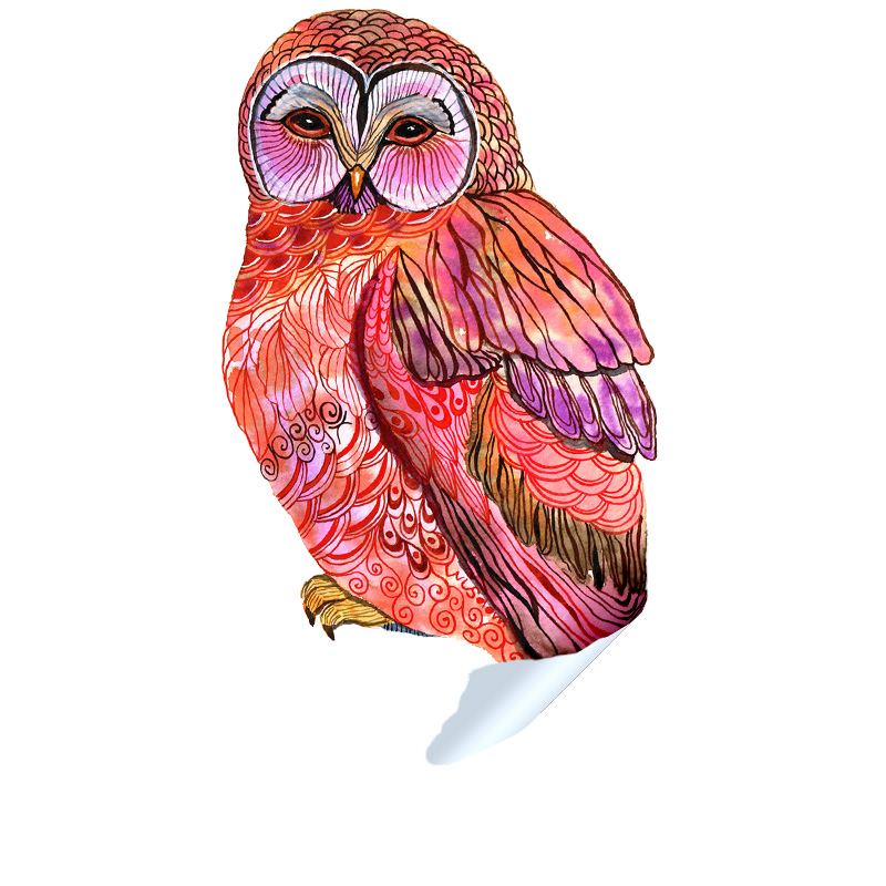 Butterfly Owl Sticker