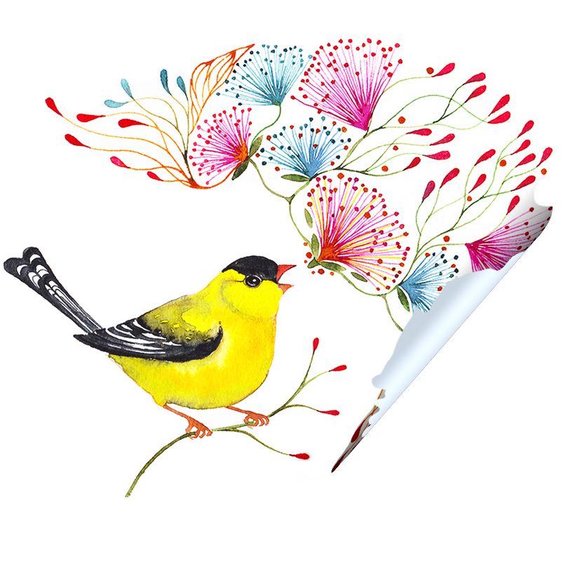 Little Singing Goldfinch Sticker