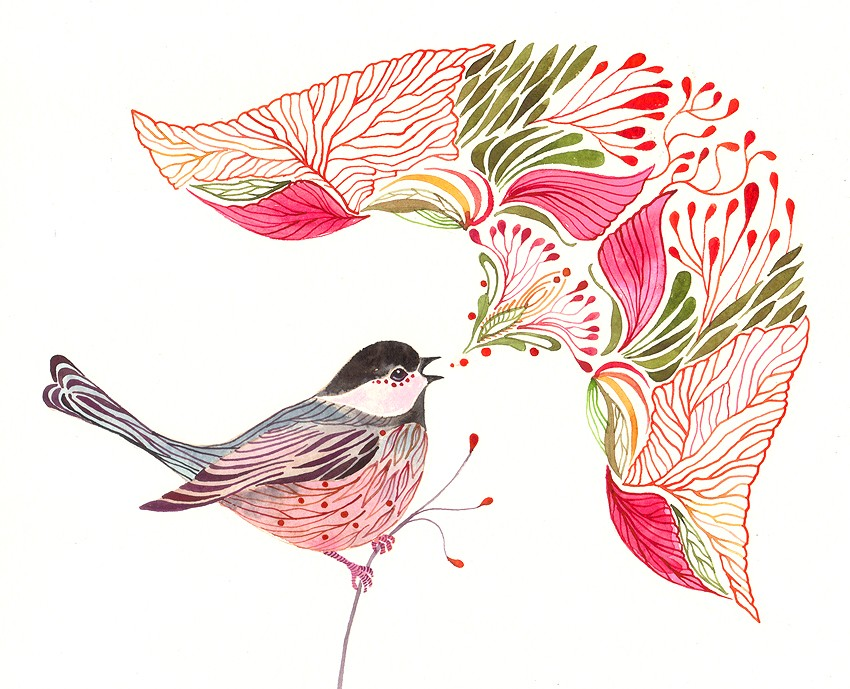Chickadee Song Art Print