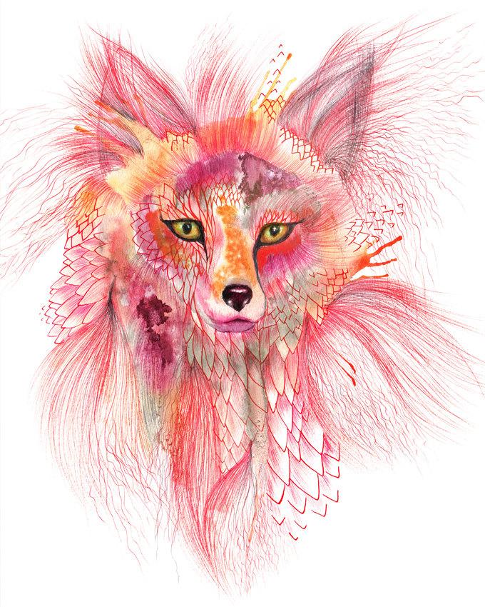 Foxy Fur Art Print