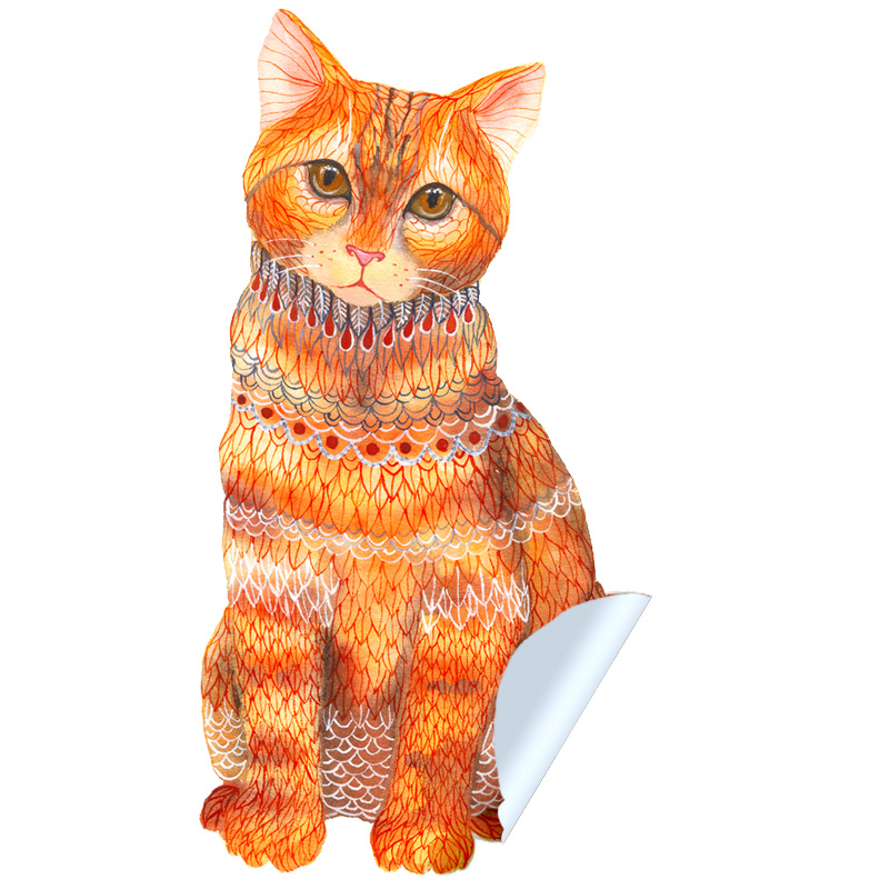 Ginger Cat Sticker