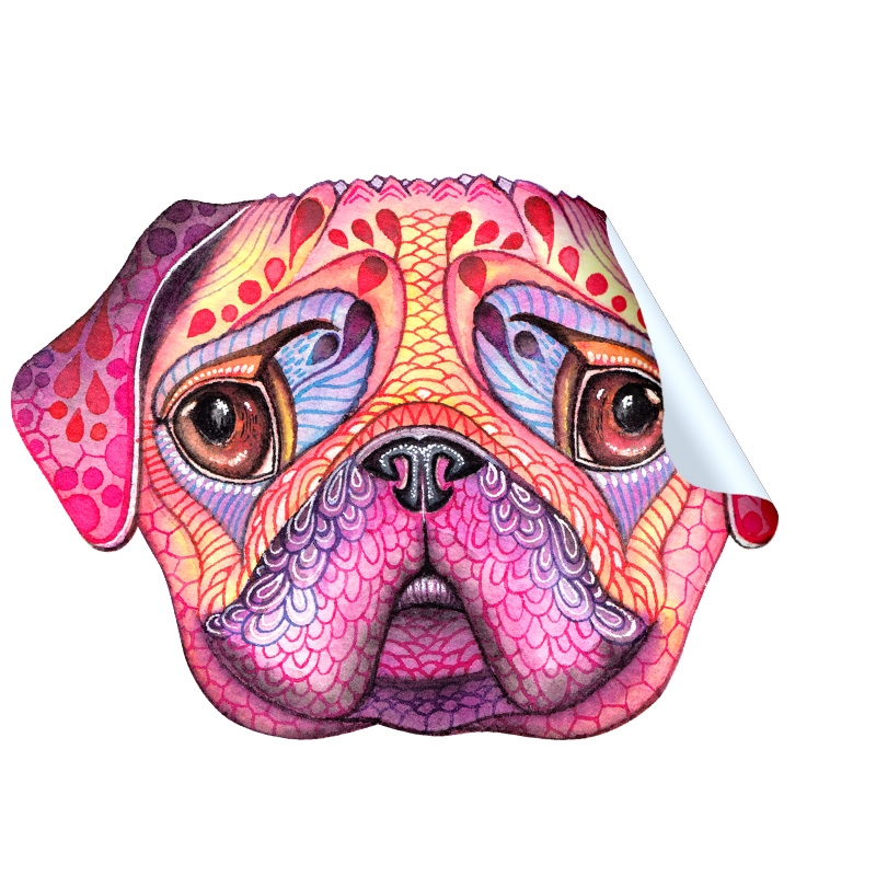 """Pugberry Face"" Sticker"