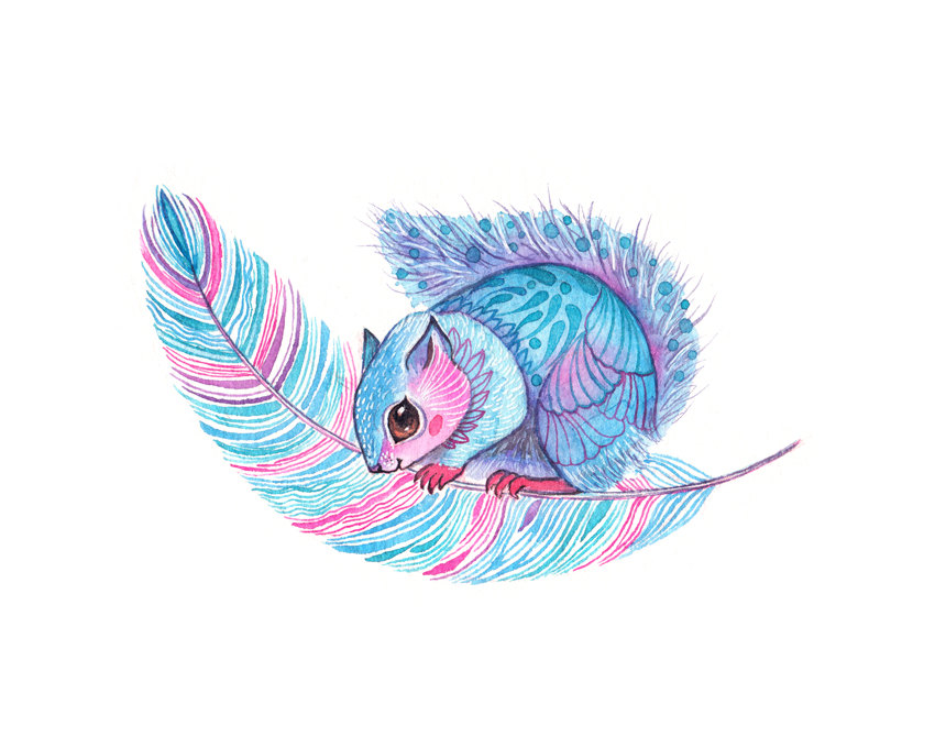 Japanese Dwarf Flying Squirrel Art Print