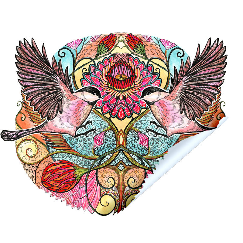 Chickadee Love Sticker