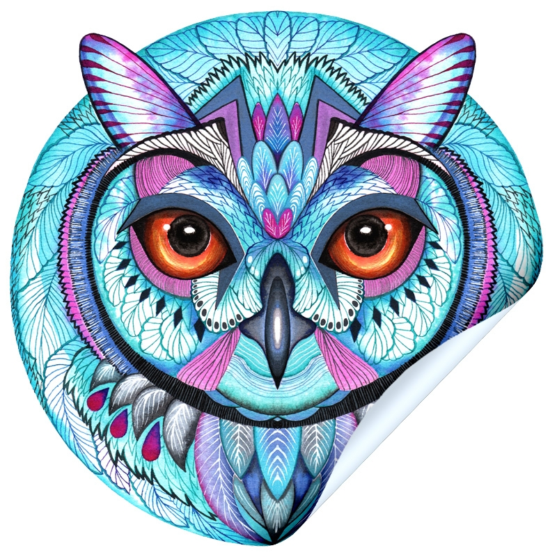 Snow Owl Sticker