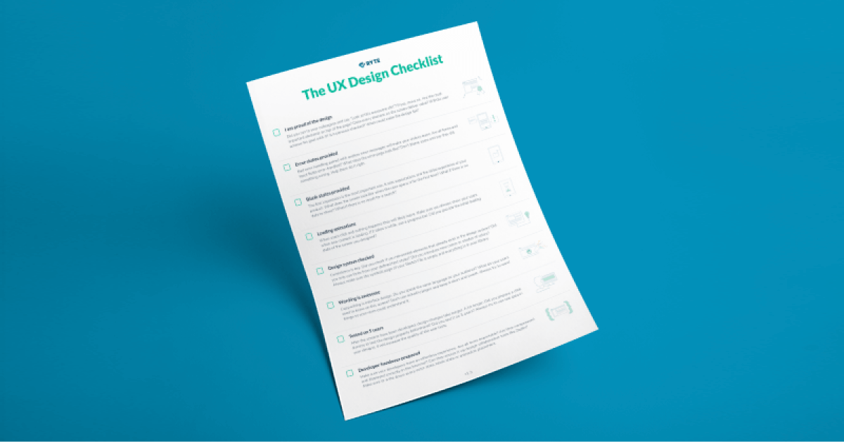 The UX Design Checklist