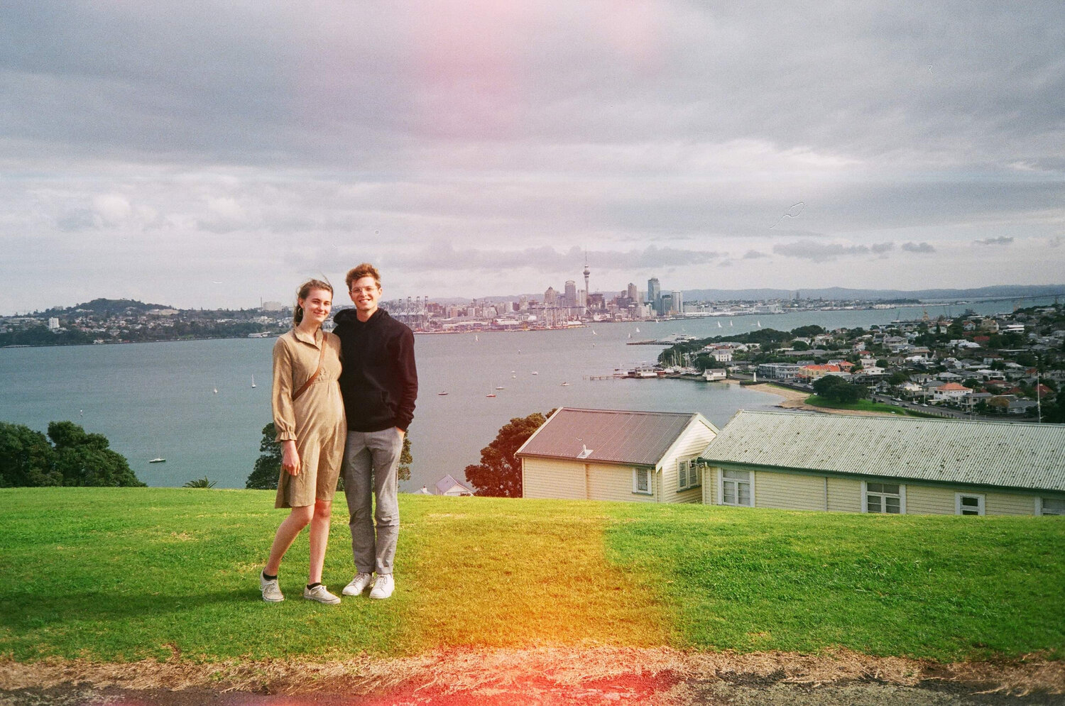 Alex and I at North Head in Devonport on Auckland's North Shore, just before she left to go back to Germany.
